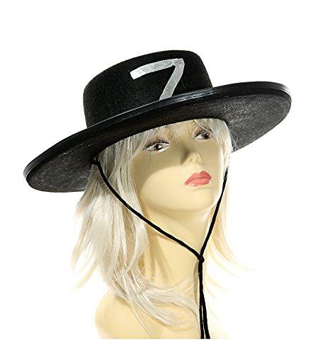 Hut ''Zorro'' schwarz 2 Stück | Kostüm | Hut | Karneval | Fasching | Verkleidung | Preis am Stiel®