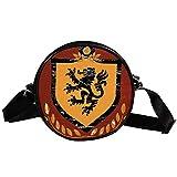 COOSUN Escudo de León Escudo de Armas Bandolera Redonda Bandolera Bandolera Bolso Bolso Bolso Bolso Bolso Bolso Satchel Bolso de Hombro para Niños Mujeres