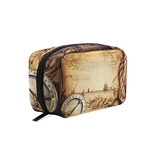 Trousse de toilette avec compartiments pour accessoires de voyage Mini femme Aventure Stories Vintage