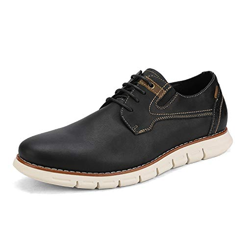 Bruno Marc Men s Oxford Dress Sneakers Business Casual Leather Dress Shoes Purpose-2 Black Size 11 M US