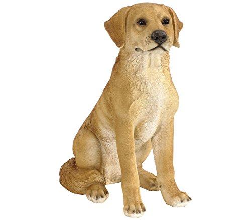 Dehner Dekofigur Labrador sitzend, ca. 48 x 37 x 25 cm, Polyresin, hellbraun