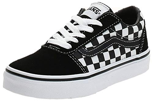 Vans Ward Suede/Canvas Zapatillas, Unisex Niños, Black/True White Pvj, 27 EU