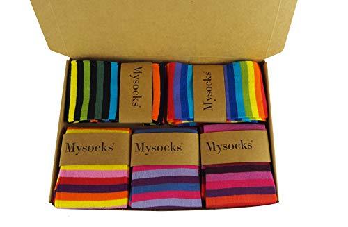 Mysocks 5 paia calzini da uomo, cotone pettinato, taglia 40-45