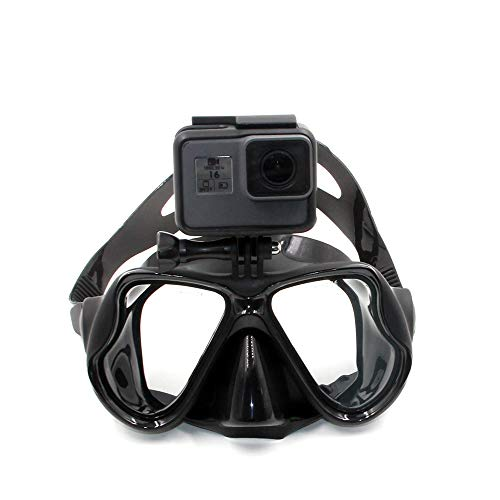 Eyeon Silicone Diving Mask Swimming Goggles Scuba Snorkel Mask with Tempered Glass and Camera Mount for GoPro, Xiaomi YI, SJCAM, Apeman, Crosstour, Victure, Campark AKASO