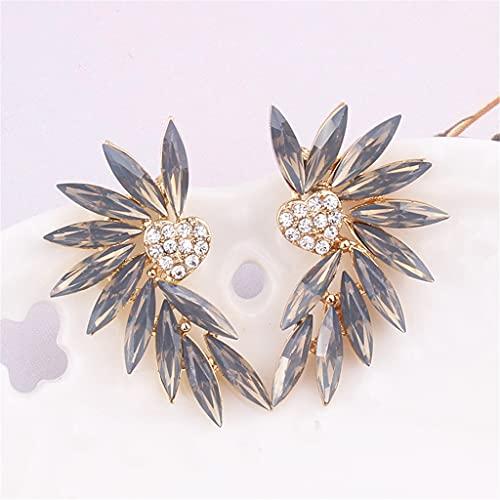 CZFWRX 1 PZ. Piccoli ali del cuore orecchini in pietra di cristallo donne piercing orecchini tendenza regalo gioielli da sposa alla moda (Color : E)