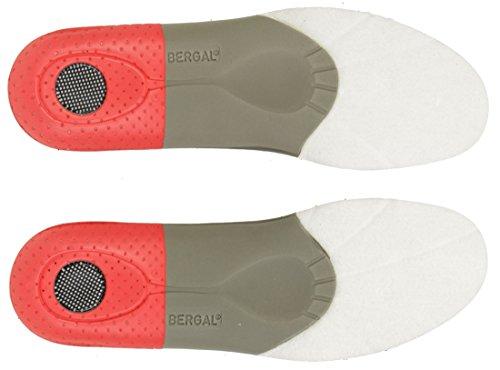BERGAL 3 Paar X-Treme Einlegesohle Gr. 36-46 dämpfende Sohle (Weiches, hautfreundliches Velours aus Mikrofaser), Schuhgröße:EUR 41