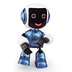 Electronic Robot Figure: The robot has sounds and flashing light function.Turn it on,the robot will make sounds while each touching on its head,and flashing light appears in its eyes. Cell Phone Stand: Hands, feet joint and head can rotate at will, a...