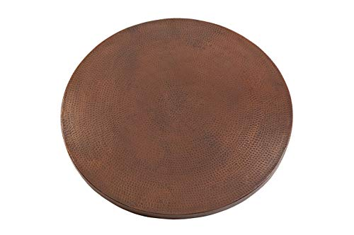 Premier Copper Products TTR30DB 30-Inch Round Hammered Copper Table Top