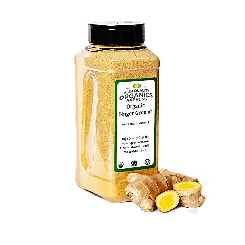 HQOExpress | Organic Ground Ginger | 14 oz. Chef Jar