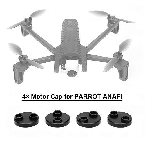 Flycoo 4 stks motorkap voor papegaai Anafi drone bescherming accessoire stofdicht schokbestendig waterdicht CNC legering aluminium, Zwart