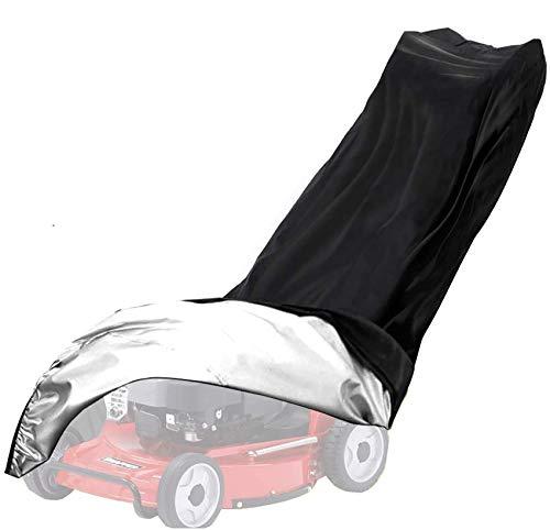 GJJSZ Cubierta Universal para cortacésped 210D Poliéster Impermeable A Prueba de Polvo Resistente a Todo Clima para jardín al Aire Libre Interior con cordón y Bolsa de Almacenamiento
