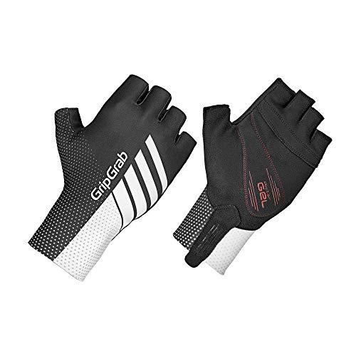 GripGrab Aero TT Profi Radsport Race Aerodynamische Kurzfinger Fahrrad Handschuhe-Rennrad, MTB, CX, Zeitfahren, Weiß/Schwarz, XL