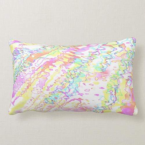 Perfecone Home Improvement - Funda de almohada con diseño de copo de nieve mágica para sofá y coche, 1 paquete de 50 x 75 cm