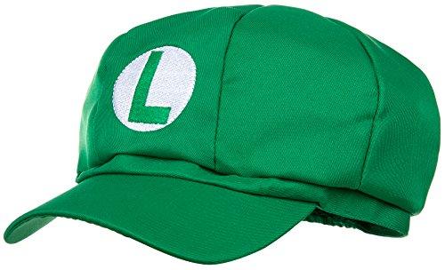 Luigi Mütze grün für Erwachsene und Kinder Karneval Fasching Verkleidung Kostüm Mützen Hut Cap Herren Damen Kappe