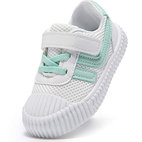 HLMBB Toddler Girls Shoes Baby Girl Boys Boy Infant Sneakers Converse Tennis Light Winter First Wide Kids Hard Bottom Running Size 5 6 4.5 6-12 12-18 18-24 Months (White, 6 Toddler)