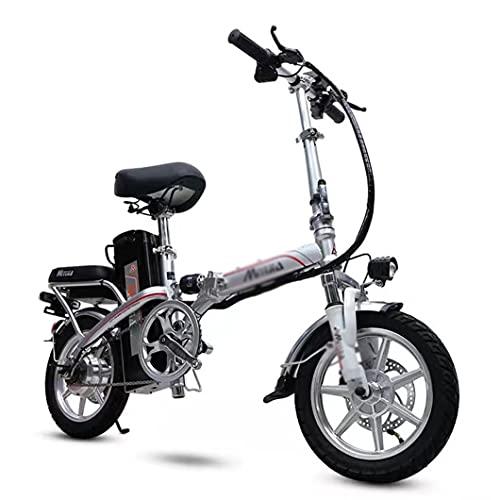 ZXQZ Bicicleta Electrica, Bicicleta Eléctrica E-Bike de 14 '' con Pantalla LCD y Control Remoto, para Adultos (Size : 150km/93.2mi)