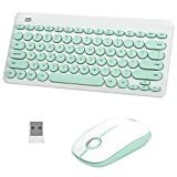 Aytop Tastiera e Mouse Wireless Set, Ultra Sottile Silenzioso Tastiera e Mouse 2.4G Tastiera e Mouse per Windows, laptop, computer, PC (Batteria Non Inclusa)