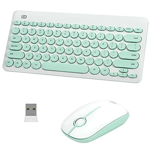 Set combinato tastiera e mouse wireless, tastiera e mouse cordless Aytop 2.4Ghz per Mac, Windows, laptop, computer, PC (batteria non inclusa)