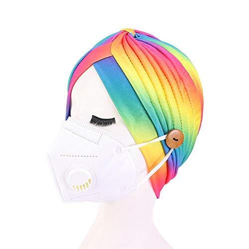 Ademende hoofdband met gehoorbescherming en knopen vrouwen hoofdband sport yoga haarband regenboog