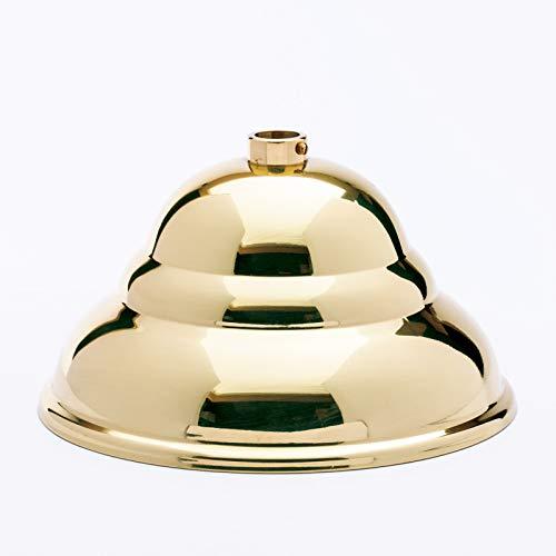 Baldaquino de latón pulido brillante, diámetro 110 mm x 60 mm, 10 anillos de ajuste rosetón para techo, dosel de lámpara, baldaquino de lámpara y dosel de metal