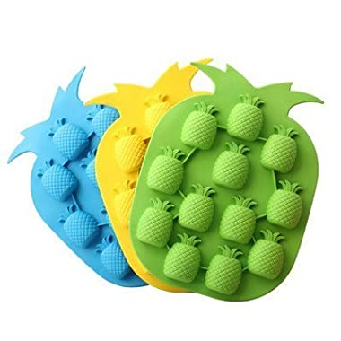 Bar Party Drink Ice Tray Pineapple Shape Ice Cube Freeze Mold Ice Maker Mould