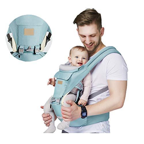 QWET Portabebés para recién Nacidos de 0 a 36 Meses, Mochila portabebés para recién Nacidos y niños pequeños, Asiento ergonómico para la Cadera para recién Nacidos 3 en 1 portabebés Frontal,B