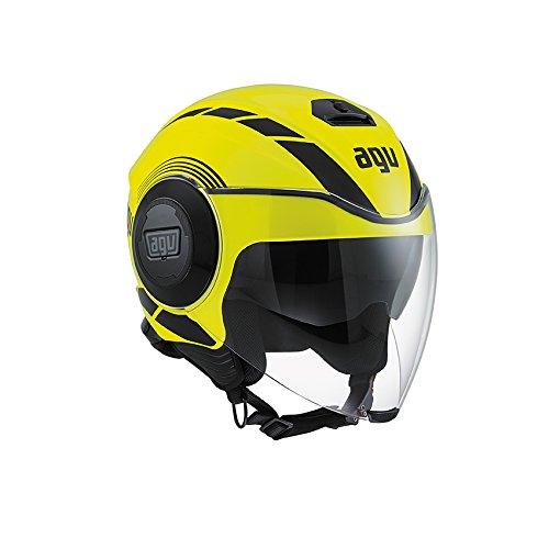 AGV Fluid E2205 - Casco para moto, Amarillo/Negro, L