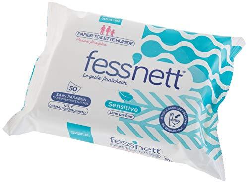 Fess'nett Papier Toilette Humidifié Sensitive 50 Pièces 1 Unité