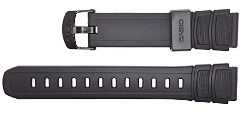 Casio watch strap watchband Resin Band black HDA-600 HDA-600B