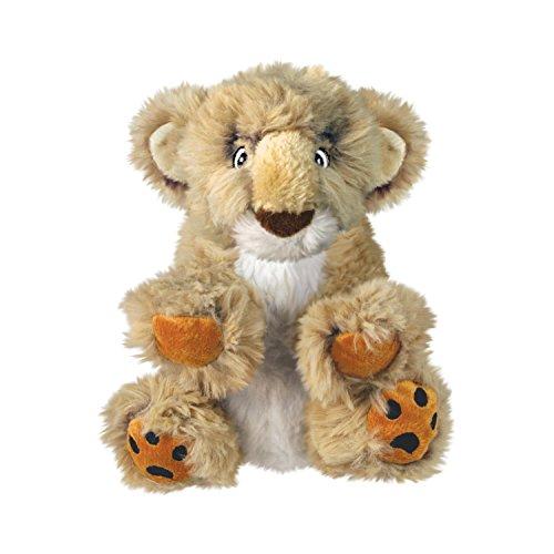 KONG – Comfort Kiddos Lion – Plüschtier mit Herausnehmbarem Quietscher – Für Große Hunde