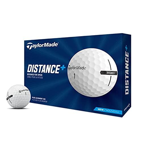2021 テーラーメイド DISTANCE + ディスタンスプラス 1ダース(12球入り) ゴルフボール US仕様 ホワイト [並行輸入品]