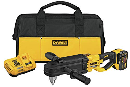 DEWALT 60V MAX Right Angle Drill with E-Clutch System Kit, In-Line Stud/Joist (DCD470X1)