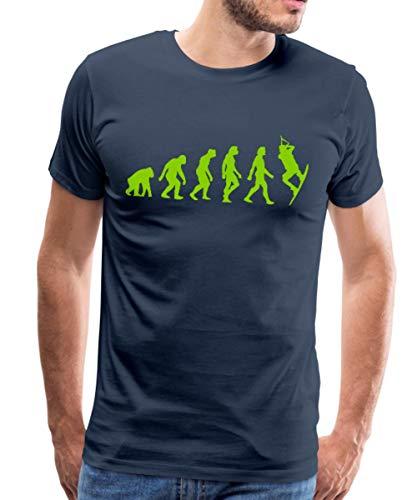 Evolution of Kite Surfing (1c) Männer Premium T-Shirt, M, Navy