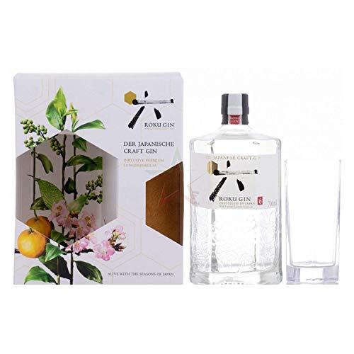 Roku Gin The Japanese Craft Ginl in Geschenkbox mit Glas 43,00% 0,70 lt.