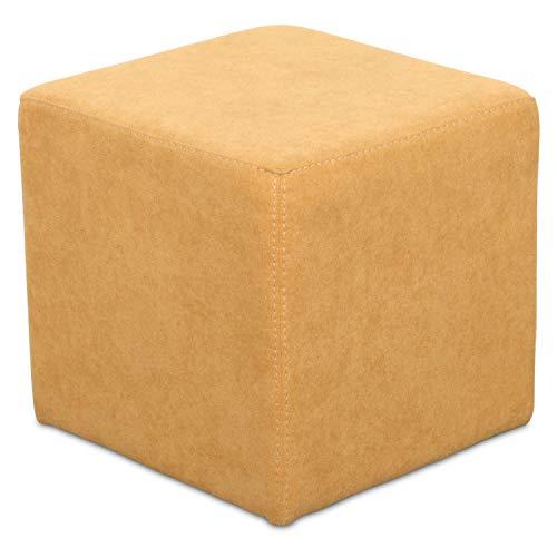 Staboos Sitzwürfel 42cm - Hochwertiger Sitzhocker Pflegeleichter Pouf Hocker - Sitzpouf mit nur 4kg - Sitzcube als perfekte Sitzgelegenheit (Coral_20)