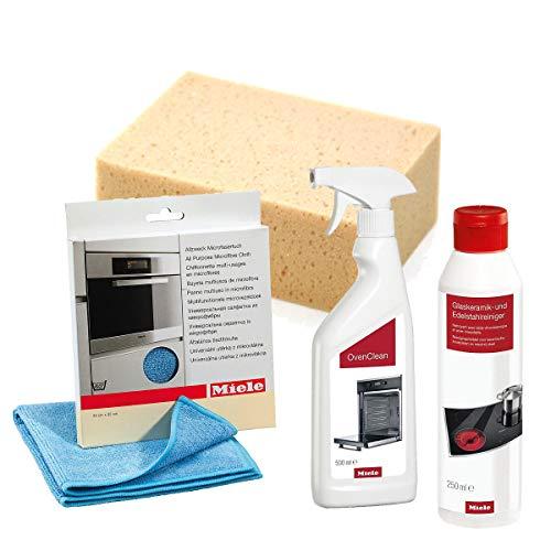 Sparpack Miele Backofenreiniger + Miele Glaskeramikreiniger + Miele Microfasertuch + MARETeam Reinigungsschwamm