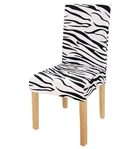 VYEKL Coperture per sedie con Motivo zebrato di Dimensioni universali Coprisedili Stampati Coprisedili per sedili protettivi per Banchetti in Hotel 4 Pezzi