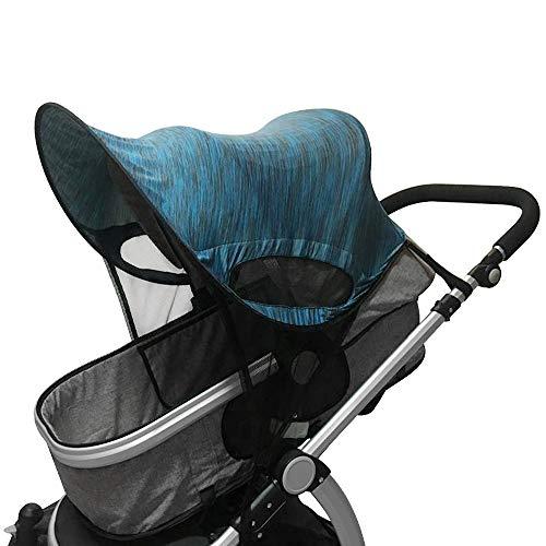 IVYSHION kinderwagen Sun Shade Baby Carriage Luifel Pushchair Prams Visor Cover Buggy Wide UV bescherming Awning Muggennetje Opvouwbare verstelbare paraplu Cap Zonnekap Zomerkinderwagen Parasolen Camouflage