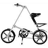 TBAN Bicicletas Plegables para Adultos, Bicicleta De Aluminio, De 16 Pulgadas De 14 Pulgadas, La Sra Hombres Plegable...