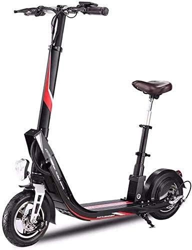 Elektrische scooter, opvouwbaar, borstelloze motor, 400 W, luchtbanden 10 inch, maximale snelheid 25 km/u, elektrische scooter voor volwassenen met licht en display
