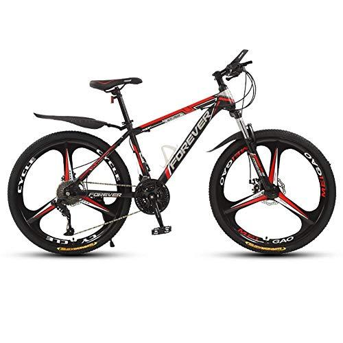 AYDQC Bicicleta de montaña 26 Pulgadas, Bicicleta Bicicleta, 21 Velocidad, Bicicleta de montaña de Freno de Disco Doble, Tenedor de suspensión con Cerradura, para Mujer, 3 Rueda de Cortador fengong