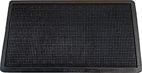 Textiles SAR Felpudo Goma Picos 40 x 70 cm, Negro, 40x70 cm