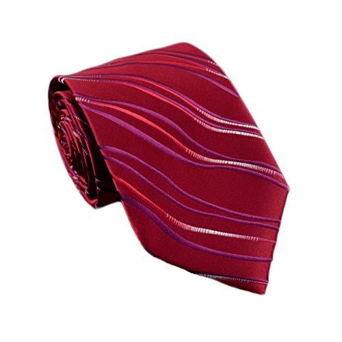 Corbata Hombre Vestido de Negocios Novio Boda Profesional Corbata de Boda (Color : Red)