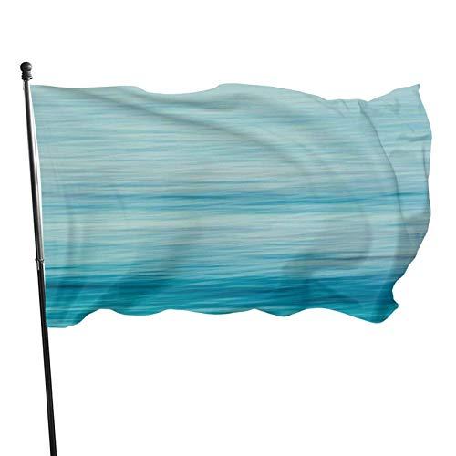 AOOEDM Bandera de jardín de mar de cambio gradual azul resistente a la intemperie, bandera de juego - 3 x 5 pies