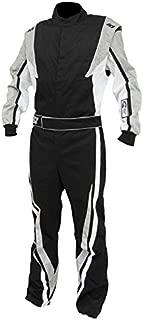 K1 Race Gear SFI 3.2a/1 Victory Auto Racing Suit (Black/White/Grey, XXX-Large)