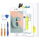 Yodoit Pantalla Completa para iPhone 6 LCD Blanco, Ensamblaje de Reemplazo del Digitalizador con Piezas de Repuesto (cámara Frontal, Botón Home) + Herramienta (4,7 Pulgadas)