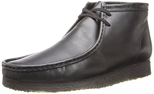 Clarks Men's Wallabee B, Black Leather, 11 M US