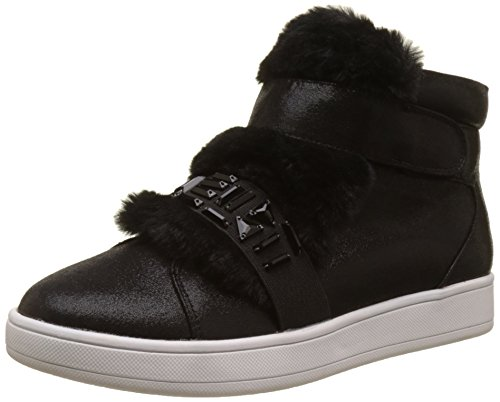 Buffalo Shoes Damen 16T44-3 Fabric Shiny Hohe Sneaker, Schwarz (Black 01), 39 EU