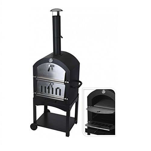 New Large Charcoal Barbecue Steel Outdoor Garden Pizza Cooker Oven BBQ And Smoker