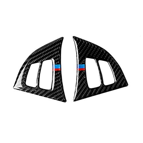 Zhoutao 2 en 1 coche de fibra de carbono Tricolor volante Botones adhesivo decorativo for BMW X5 E70 2008-2013, izquierda y derecha Universal Drive